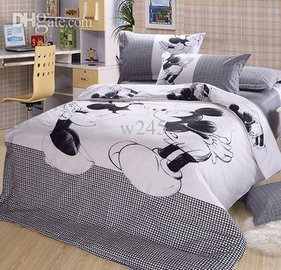 Genial Online Cheap Wholesale Luxury Mickey Minnie Mouse Bedding Sets  Full/Queen/King Comforter Sets Bed Linen ...