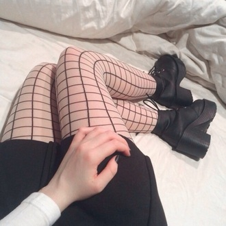 tights grid black and white grunge cool chill tumblr aesthetic aesthetic tumblr socks black cute kawaii