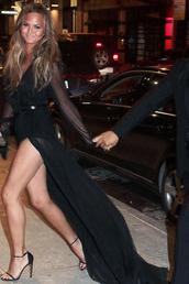 dress,chrissy teigen,sandals