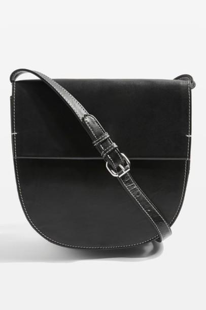 Topshop bag leather black