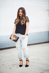 nany's klozet,blogger,jeans,top,shoes,bag,jewels