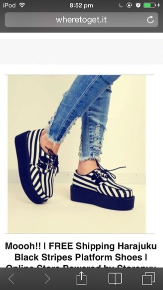 shoes striped high