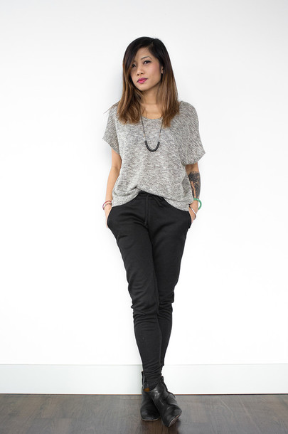 phi style sweater pants shoes jewels