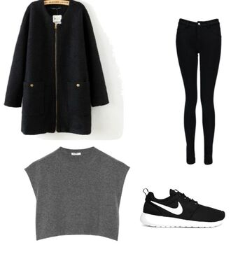 shoes nike nike roshe run pants tank top