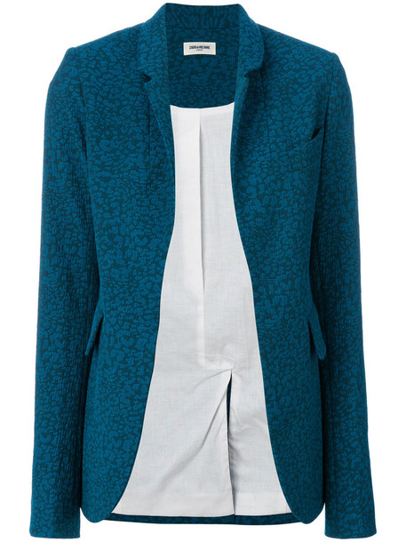 Zadig & Voltaire blazer women spandex cotton blue jacket