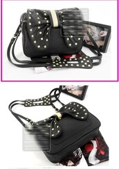 bag,bow,studded
