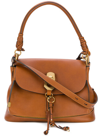 women bag shoulder bag leather suede brown