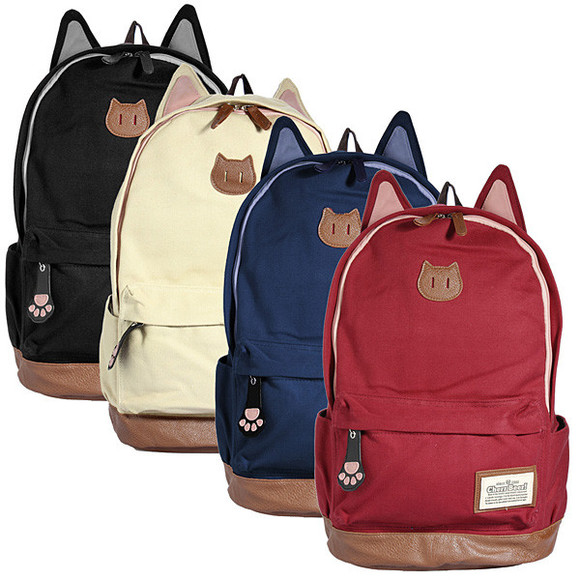 cats cat bag ears paws backpack