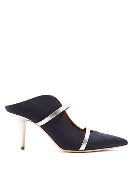 MALONE SOULIERS mules silver navy shoes