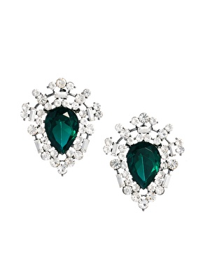 ASOS | ASOS Emerald Burst Earrings at ASOS