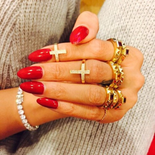 nail accessories jewels ring crossed ring cross rings gold silver cross jewellery rings jewelry