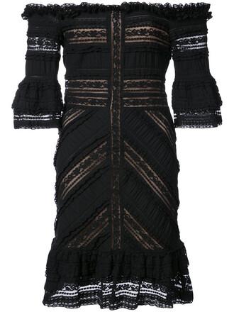 dress women spandex lace cotton black