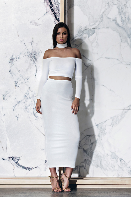 Bossa Edessa White Crop Top