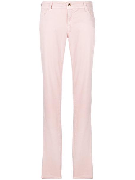 jeans women spandex cotton purple pink