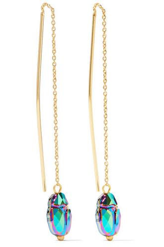 crystal earrings earrings gold jewels