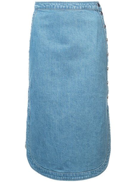 skirt denim skirt denim women cotton blue