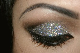 make-up glitter eyeliner eye makeup eye shadow mascara party make up