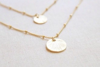 jewels gold circle necklace