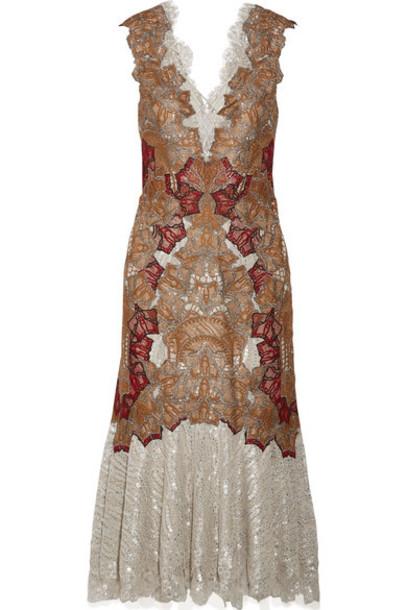 dress midi dress metallic midi lace silver