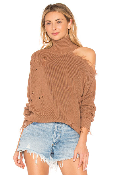 Lovers + Friends sweater tan