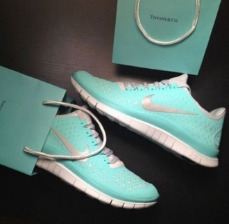 shoes teal blue nike nike shoes nike running shoes grey shoes tiffany blue nikes bag