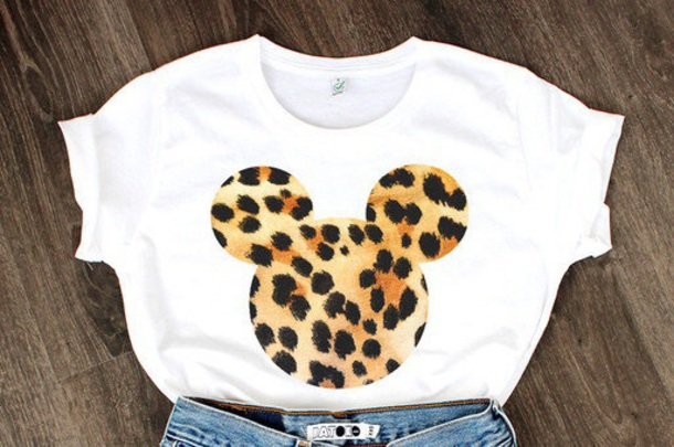 d00b30b4 shirt, white t-shirt, leopard print, mickey mouse - Wheretoget