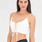 Try and tie again lace-up crop top black ivory - gojane.com