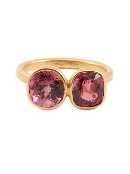 Marie Helene De Taillac women ring gold purple pink jewels