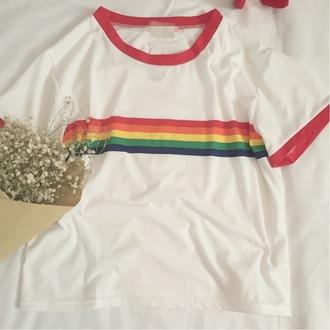 t-shirt rainbow summer fashion style trendy cool teenagers boogzel