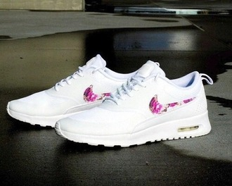shoes nike running shoes nike air nike shoes white nike shoes with flowers