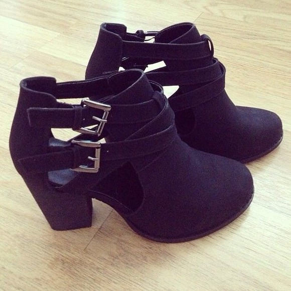 shoes black black shoes booties ankle booties