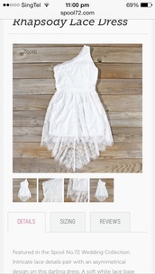 lace dress,floral dress,high low dress,toga dress,prom dress,white,white dress