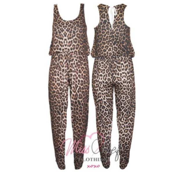 Dress Romper Jumpsuit Leopard Print Women Pink By Victorias Secret - Wheretoget