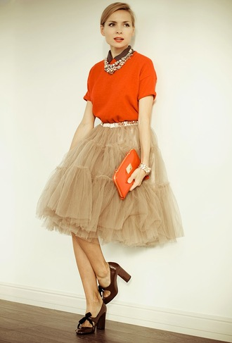 top tulle skirt high heels jewels puffy blogger tini tani pouch necklace