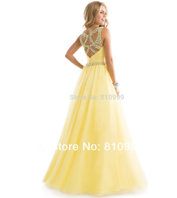long prom dress prom dress prom gown evening dress sexy back dress evening dress formal dress yellow cocktail dress quinceanera dress