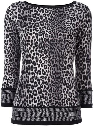 blouse women spandex print black leopard print top
