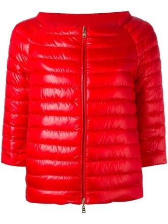 jacket down jacket women cotton red