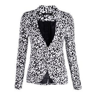 jacket leopard black and white