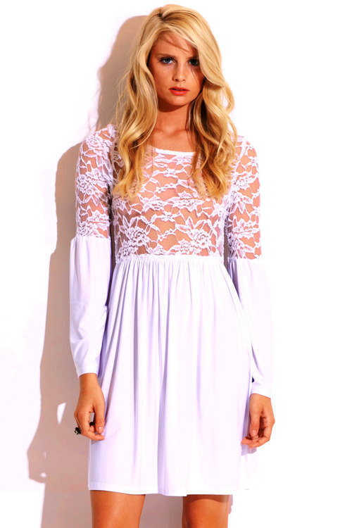 Lethalbeauty ? lace see through bell sleeve mini dress