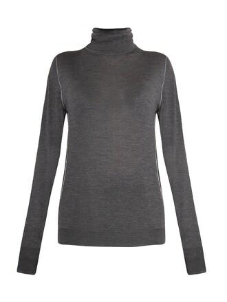 sweater wool sweater wool dark grey