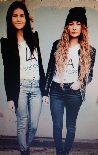 t-shirt black la sisters cross white mode shirt modemusthaves?