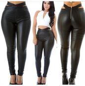 pants,white top,halter top,top,crop tops,leggings,liquid,tights,high heels,high waisted jeans,heels,black jeans
