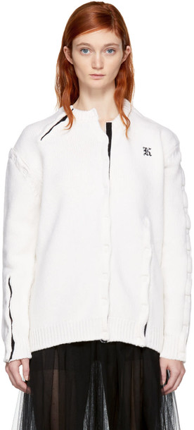 CHRISTOPHER KANE cardigan cardigan white off-white sweater