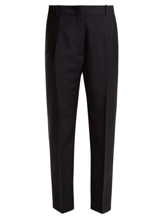 mohair wool navy pants