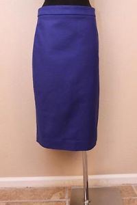 JCrew Long No 2 Pencil Skirt in Double Serge Cotton $128 2 Bright Indigo | eBay