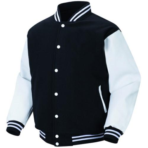 Black white varsity letterman jacket by medex