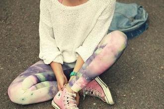 pants leggings pantalon shirt pink
