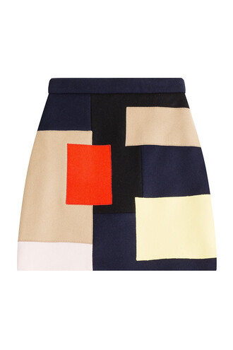 skirt mini skirt mini wool multicolor
