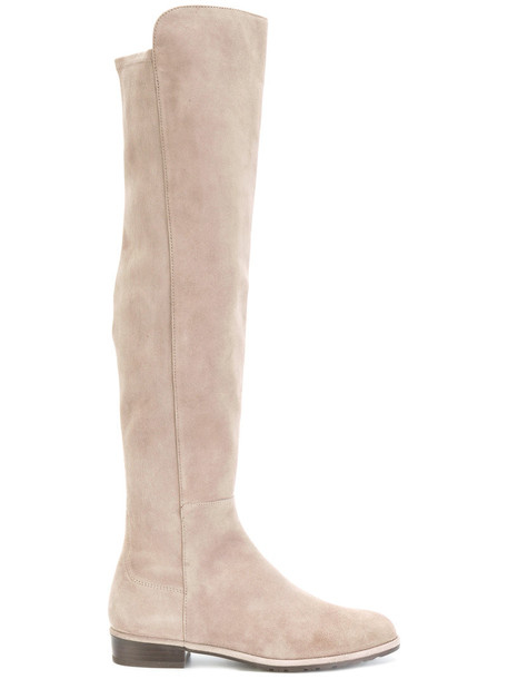 STUART WEITZMAN high women knee high knee high boots leather nude suede shoes