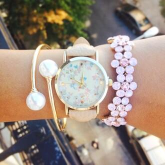 jewels ishopcandy pearl pearl bracelet pearl cuff cuff bracelet gold